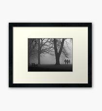 Misty Morning in the Park Framed Print
