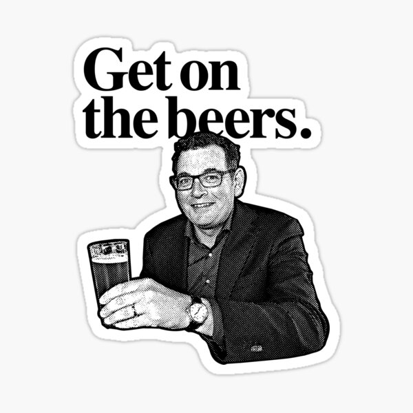 Get on the beers. Sticker