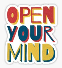 Open Your Mind Sticker