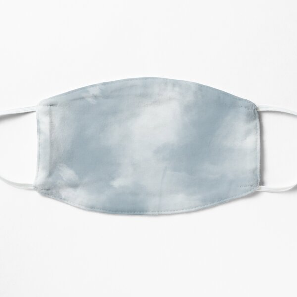 Light Blue Tie Dye Mask Mask