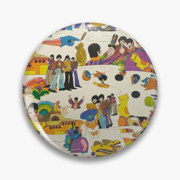 Beatles Trippy Image Pin