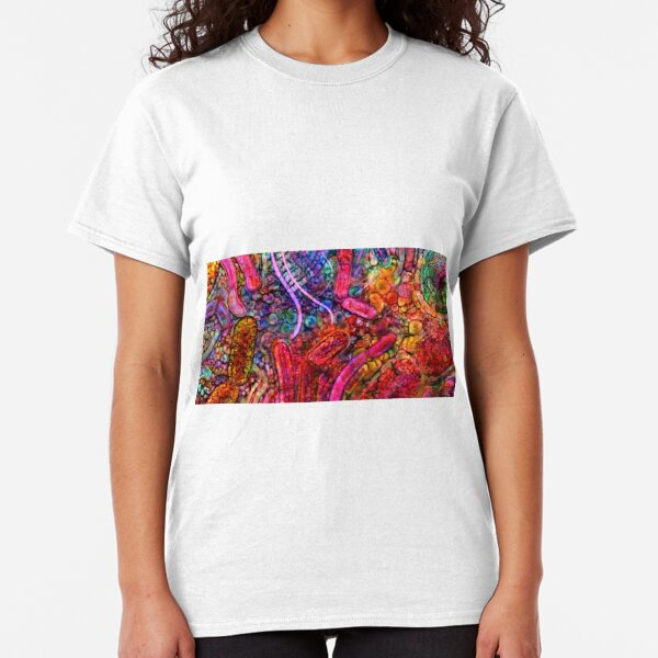 Gut Microbiome Electric Probiotic Watercolour Classic T-Shirt