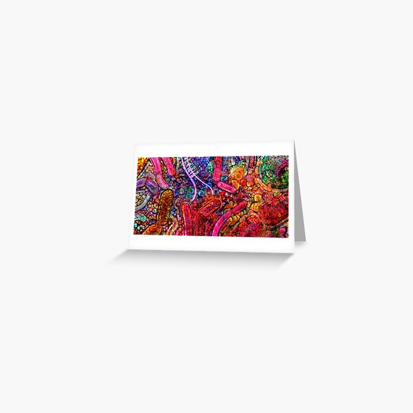 Gut Microbiome Electric Probiotic Watercolour Greeting Card