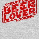 Scruffy Looking Beer Lover by synaptyx
