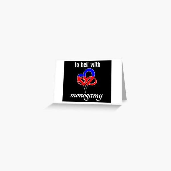 Non-Monogamy Polyamory Infinity Heart Polygamy Greeting Card