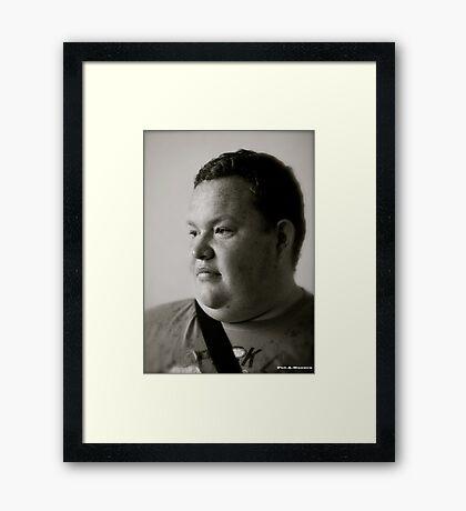 Powodzenia Piotrze ! Black & White . 264 views . Dziękuję ! Thx ! Framed Print
