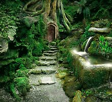 Entrance to Rivendell (revised) by Angie Latham