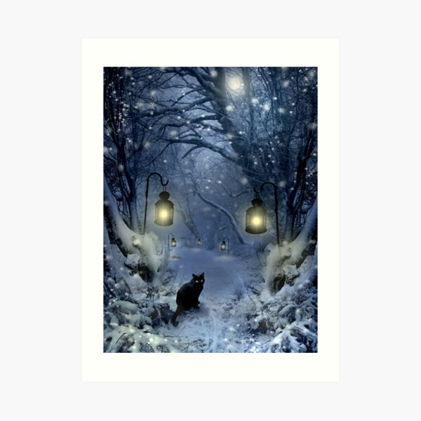 Winter Twilight  Art Print