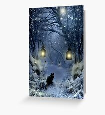 Winter Twilight  Greeting Card