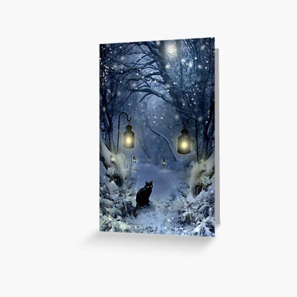 Winter Twilight  Greeting Card