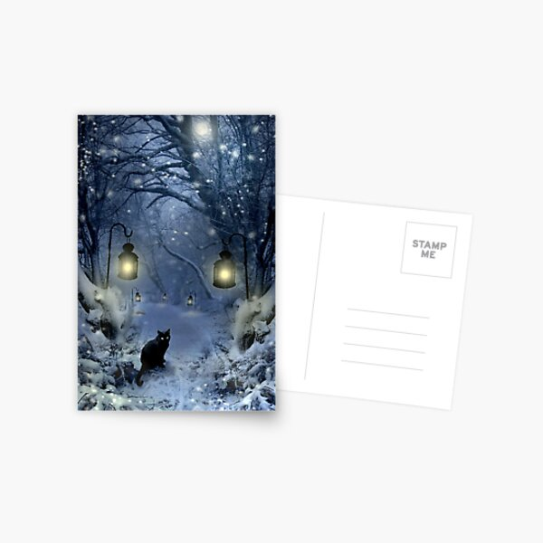 Winter Twilight  Postcard