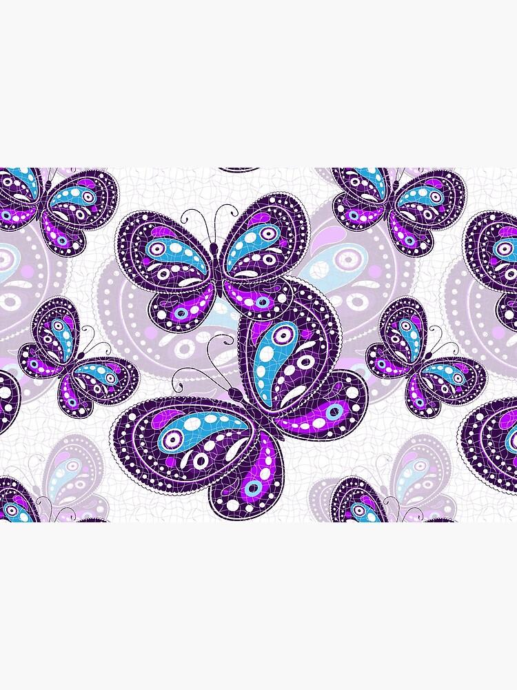 Purple Butterfly Bustle by adaba