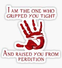 Supernatural Handprint  Sticker