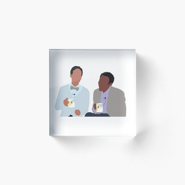 Troy and Abed Acrylic Block