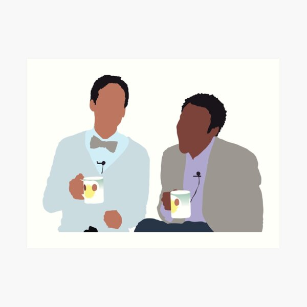 Troy and Abed Art Print