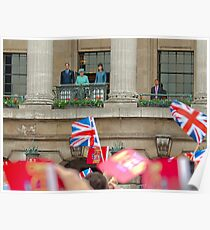 The Queen and The Duke And Duchess Of Cambridge  Poster