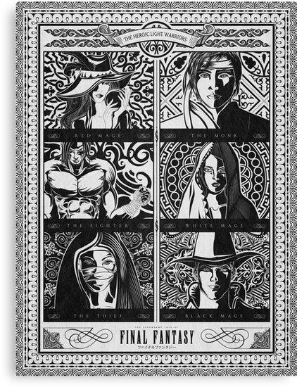 Final Fantasy Jobs Geek Art Poster by barrettbiggers