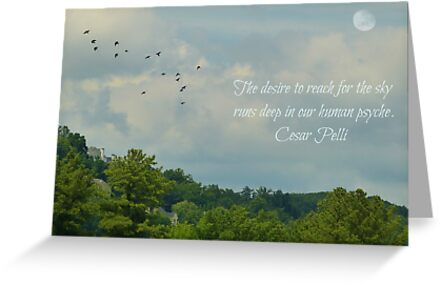 The desire to fly - greeting card by Scott Mitchell
