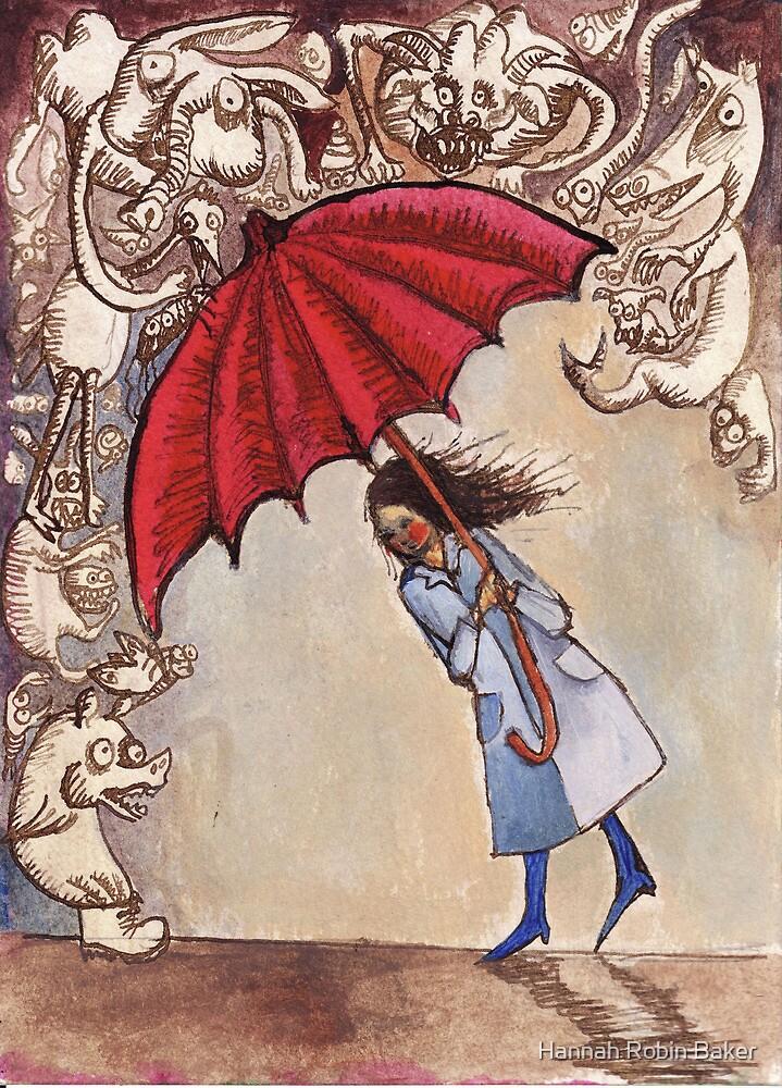 The Red Umbrella by Hannah Robin Baker