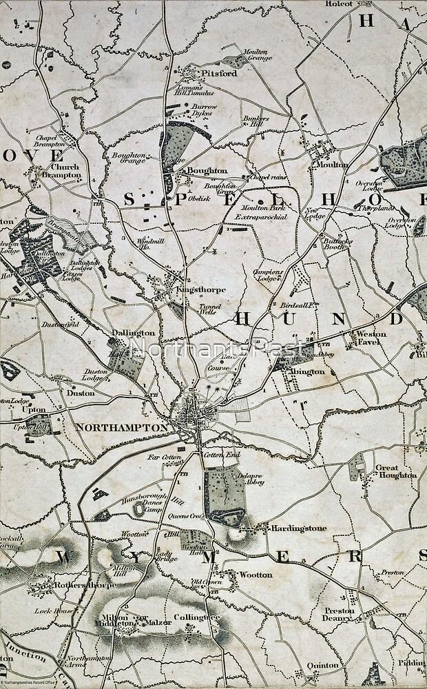 Old Northamptonshire map - Northampton by NorthantsPast