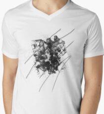 Cool Rusty Grunge Vintage Scratches  Mens V-Neck T-Shirt