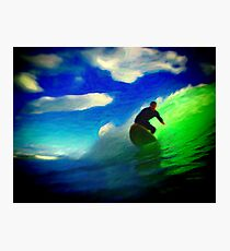 The Slow Green Ride Photographic Print
