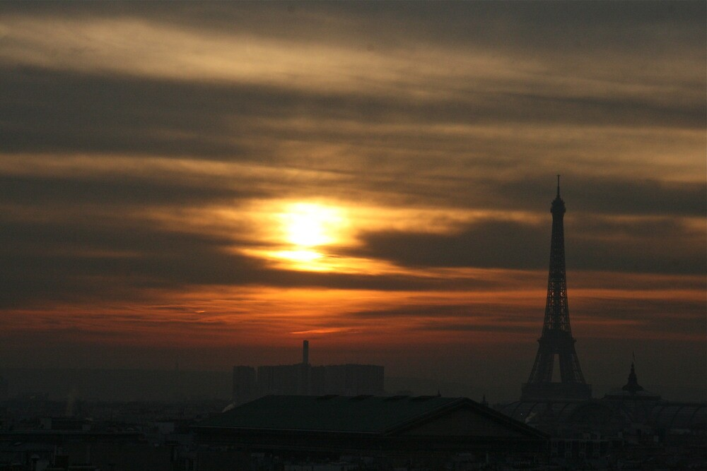 Sunset in Paris by Virginia Kelser Jones