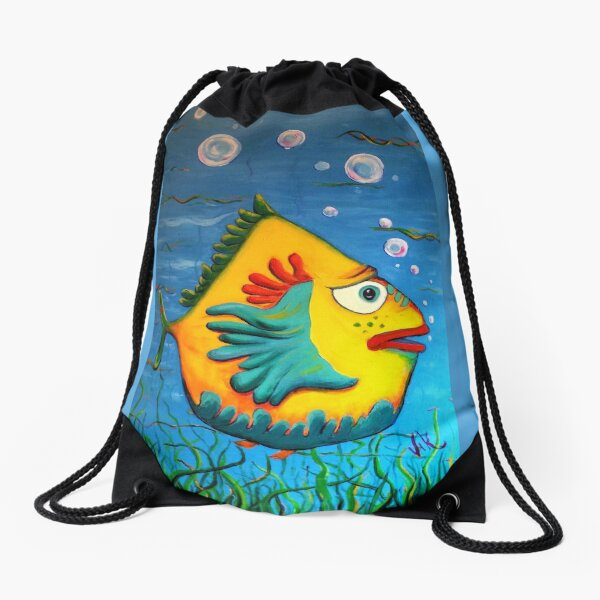 Izzy at the Itch Drawstring Bag