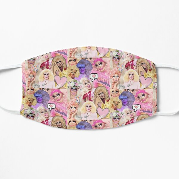 Trixie Mattel collage Flat Mask