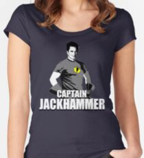 CAPTAIN JACKHAMMER Women's Fitted Scoop T-Shirt