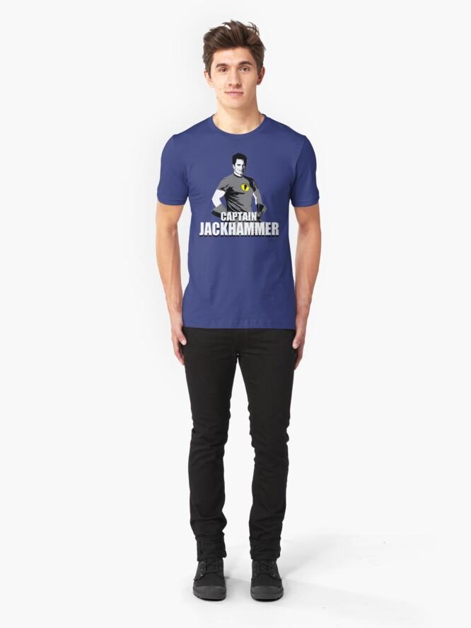 Alternate view of CAPTAIN JACKHAMMER Slim Fit T-Shirt