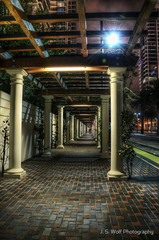 Night Walkway by jswolfphoto