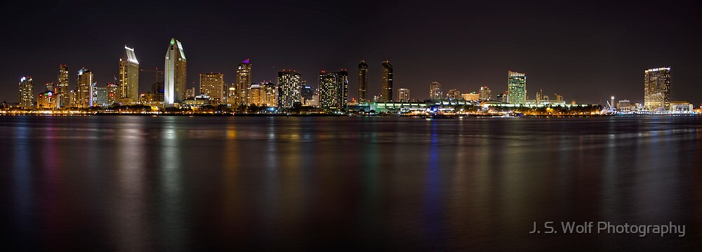 San Diego at Night by jswolfphoto