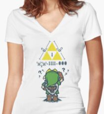A Link to the Math Women's Fitted V-Neck T-Shirt