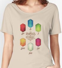 Legend of Zelda The Rupees Geek Line Artly Women's Relaxed Fit T-Shirt