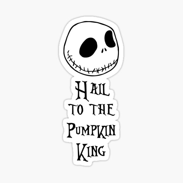 Nightmare Before Christmas - Hail to the Pumpkin King Sticker