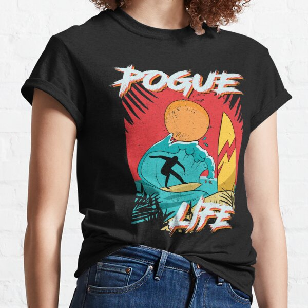 Pogue Life Outer Banks Retro Surf Camiseta clásica