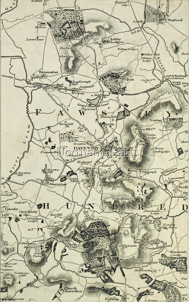Old Northamptonshire map - Daventry by NorthantsPast