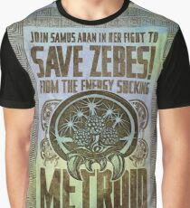 Metroid Propaganda Geek Line Artly  Graphic T-Shirt