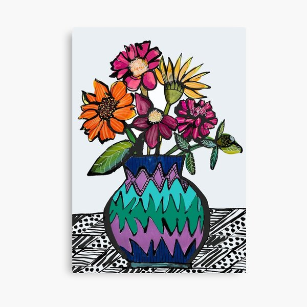 Azziz's Flowers Canvas Print