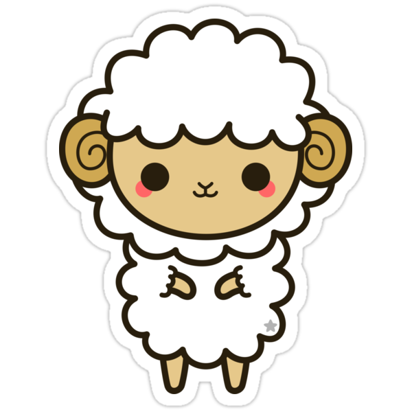 """Kawaii zodiac-Aries"" Stickers by peppermintpopuk 
