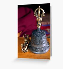 Bell and Vajra Pisang Monastery Greeting Card