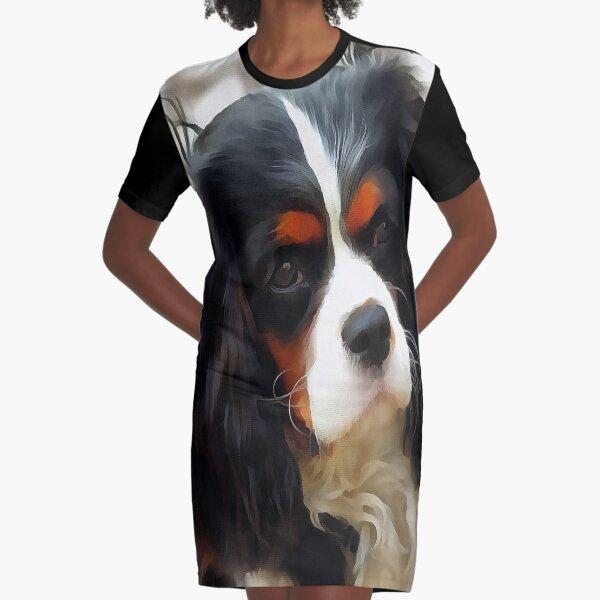 Portrait Of A King Charles Cavalier Spaniel Graphic T-Shirt Dress