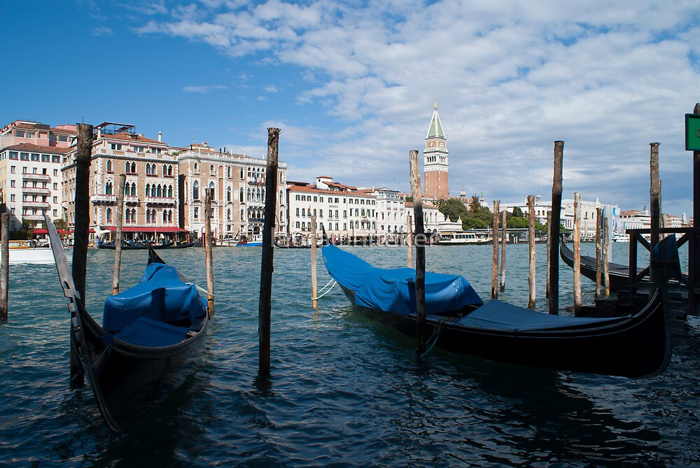 Venice Boats by laurawhitaker