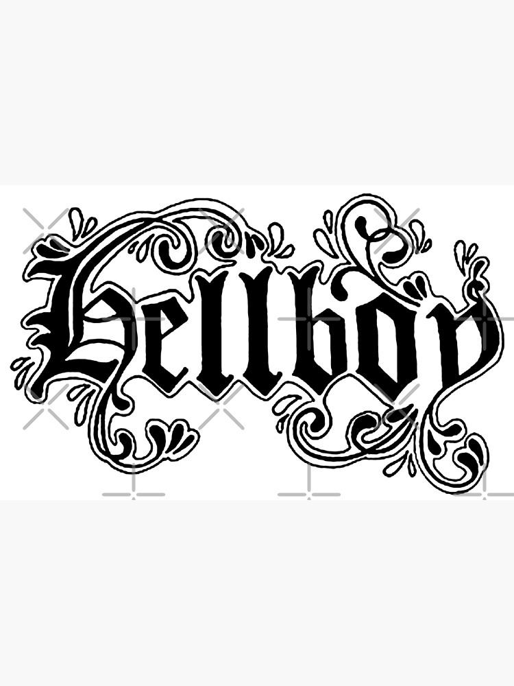 Lil Peep Hellboy Text Tattoo Design Canvas Print by