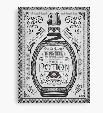 Legend of Zelda Red Potion Geek Line Artly Canvas Print