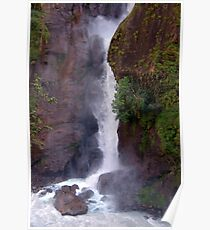 Crashing Waterfall into Marsyangdi River Poster