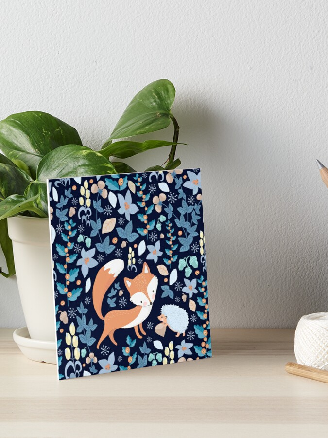 Fox And Hedgehog Art Board Print By Limeivy Redbubble
