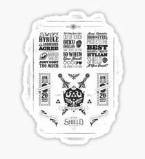 Legend of Zelda Hylian Shield Geek Line Artly Sticker