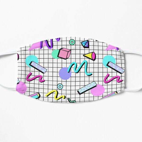 80s Retro Party Grid Design (White BG) Mask